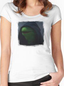 Kermit meme Women's Fitted Scoop T-Shirt