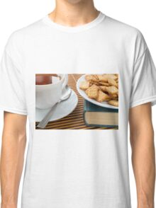 Fragment of a saucer with a cup of tea Classic T-Shirt