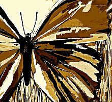 An Autumn Butterfly so Brown by Saundra Myles