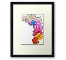 Flowery Love Framed Print