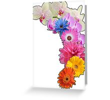 Flowery Love Greeting Card