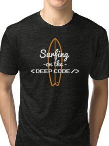 developer code programming surfing Tri-blend T-Shirt