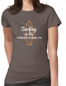 developer code programming surfing Womens Fitted T-Shirt