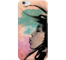 Psychedelic Blow Japanese Girl iPhone Case/Skin