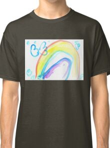 Butterfly on a rainbow - child's drawing Classic T-Shirt