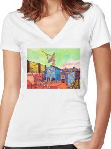 Gold Rush Women's Fitted V-Neck T-Shirt