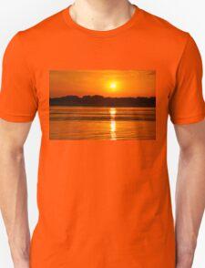 Orange Ripples on the Water Unisex T-Shirt