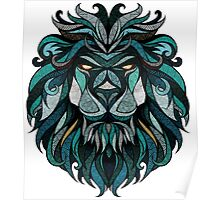 Lion tribal Poster