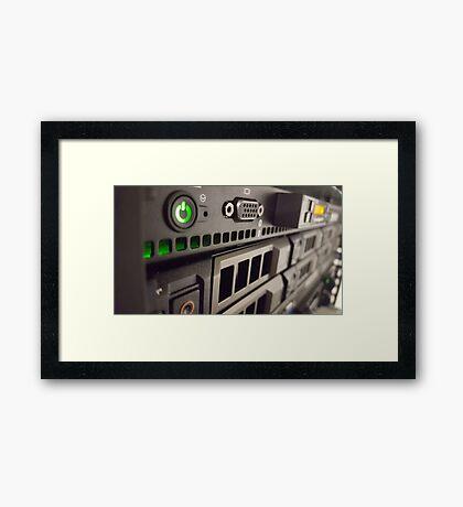 Rack Server Framed Print