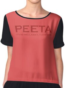 Peeta It's No Mellarky I Loaf Him Chiffon Top