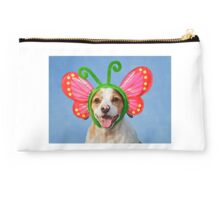 Cute Dog with Butterfly Ears Studio Pouch