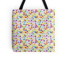Flying confetti pattern Tote Bag