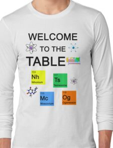 Periodic Table new elements: Nihonium, Tennessine, Moscovium, Oganesson Long Sleeve T-Shirt