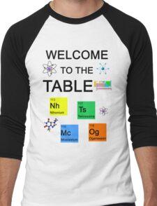 Periodic Table new elements: Nihonium, Tennessine, Moscovium, Oganesson Men's Baseball ¾ T-Shirt