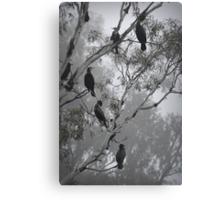 Cormorants on a Foggy Day Canvas Print