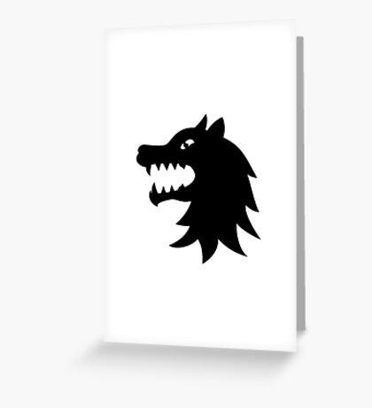 loup wolf starck Greeting Card