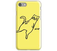 """Nice"" Cat iPhone Case/Skin"