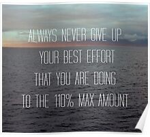 Always Never Give Up... Poster