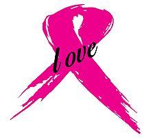 Love Pink Ribbon Photographic Print