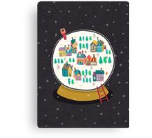 Christmas snow globe  Canvas Print