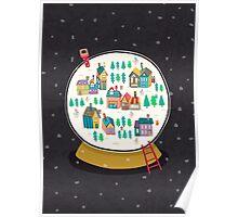 Christmas snow globe  Poster