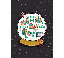 Christmas snow globe  Photographic Print