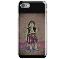 Tiny Gypsy Girl in Mary Jane Shoes iPhone Case/Skin