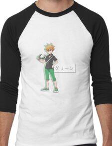 pokémon trainer green Men's Baseball ¾ T-Shirt