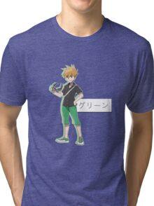 pokémon trainer green Tri-blend T-Shirt