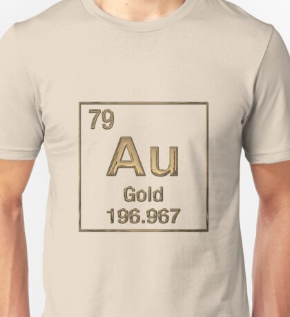 Periodic Table of Elements – Gold (Au) Unisex T-Shirt