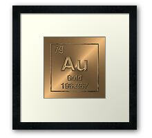 Periodic Table of Elements – Gold (Au) Framed Print