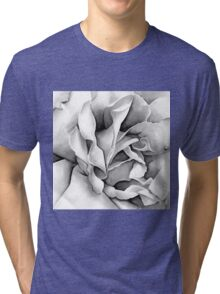 Soft Rose - Ink painting Tri-blend T-Shirt