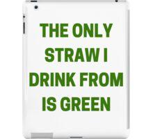 Green Straw iPad Case/Skin