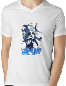 yuri!!! on ice (group version//blue) Mens V-Neck T-Shirt
