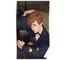 Fantastic Beasts - Newt Scamander Comes Out of Suitcase Poster