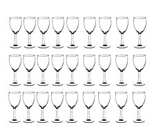 Rows of wine glasses  Photographic Print