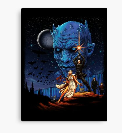 Throne wars is coming Canvas Print