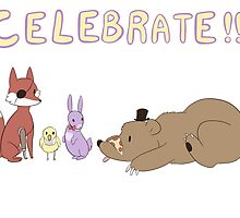 Celebrate! FNAF by VonRedwing