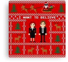 I WANT TO BELIEVE IN UGLY CHRISTMAS Canvas Print
