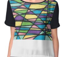 Color Mashup Design Chiffon Top