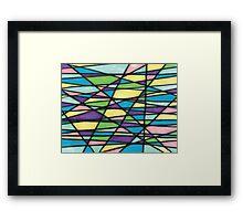 Color Mashup Design Framed Print