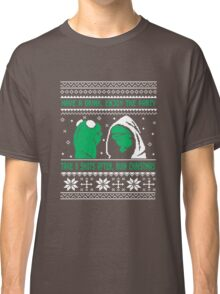 Funny Kermit Ugly Christmas Sweater Classic T-Shirt