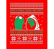 Funny Kermit Ugly Christmas Sweater Photographic Print