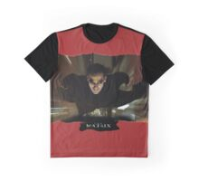 Matrix Attitude in Flight - Keanu Reeves Graphic T-Shirt