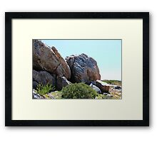 Boulders on the Beach Framed Print