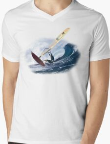 Windsurf Mens V-Neck T-Shirt