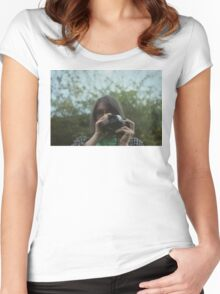 Girl on film Women's Fitted Scoop T-Shirt