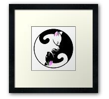 Cat Yin Yang Symbol - Stickers and T-shirts Framed Print