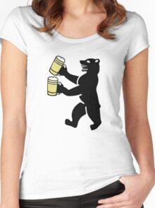 ours berlin beer Bier bear Women's Fitted Scoop T-Shirt