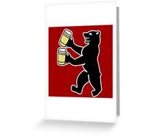 ours berlin beer Bier bear Greeting Card